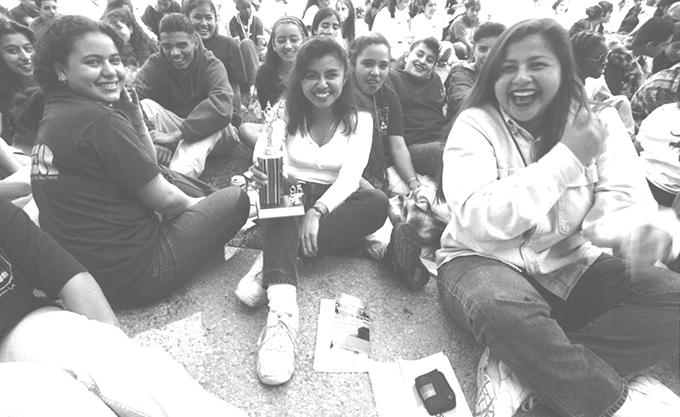 1997 women celebrate