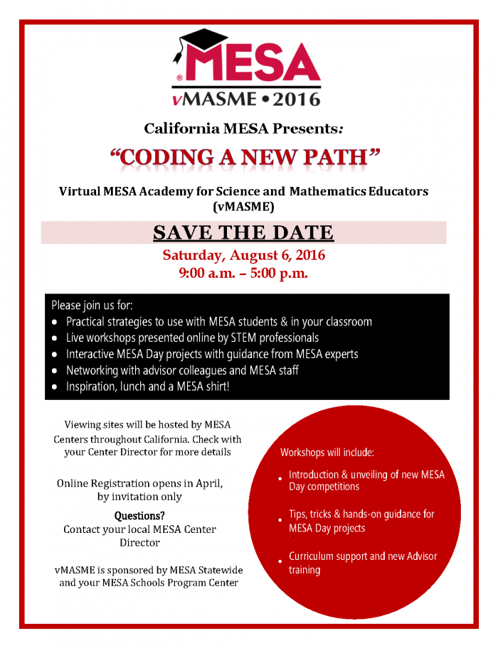 vMASME Save the Date 2016